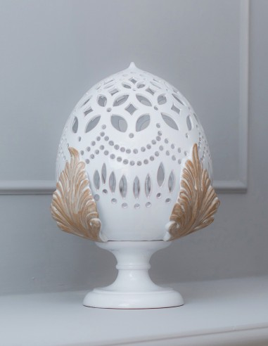 lampada pumo in ceramica stile Shabby chic CAMINARI