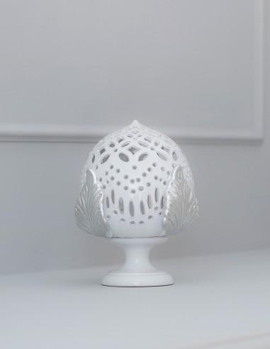 lampada pumo in ceramica barocco moderno argento CAMINARI