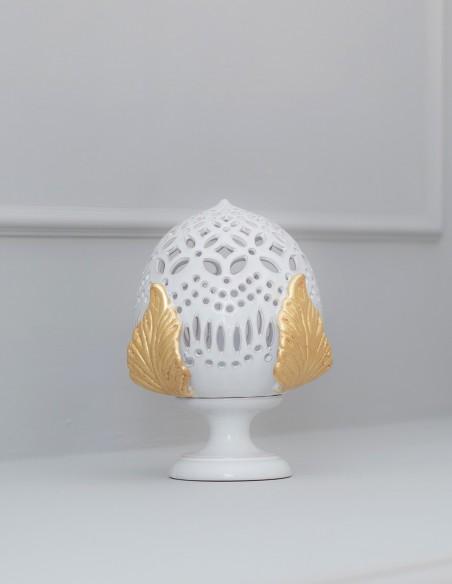 lampada pumo in ceramica barocco oro CAMINARI