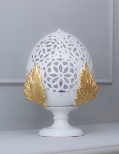 lmapada da salone pumo in ceramica stile barocco oro CAMINARI
