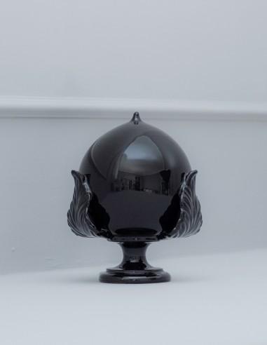 pumo tre foglie ceramica barocco nero